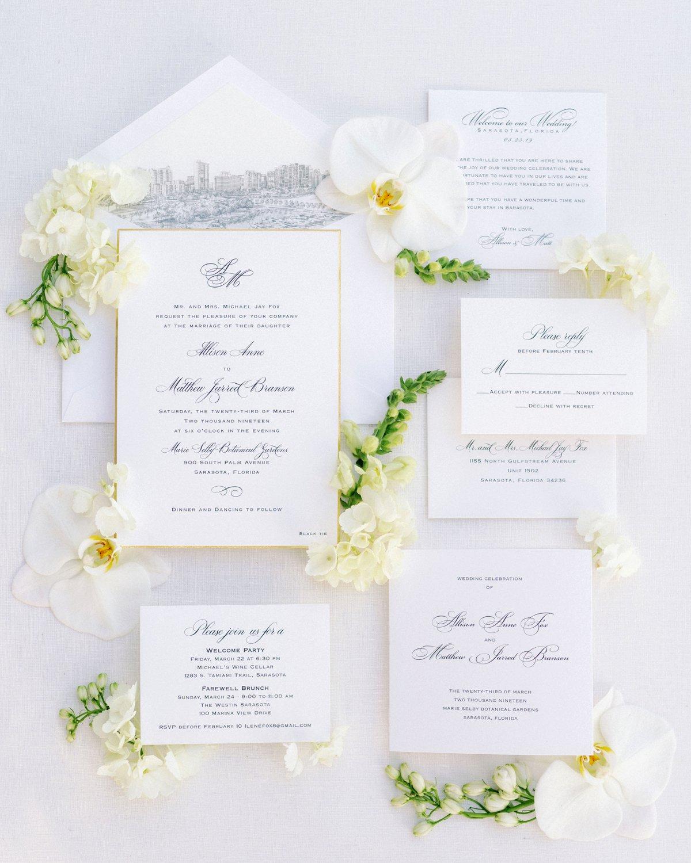A White Modern Romantic Sarasota Wedding via TheELD.com