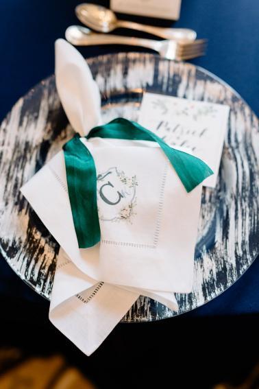 An Elegant Green & Navy Southern Wedding via TheELD.com