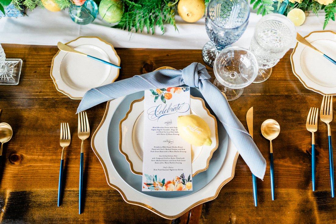 Chic Citrus Italian Inspired Wedding Ideas via TheELD.com
