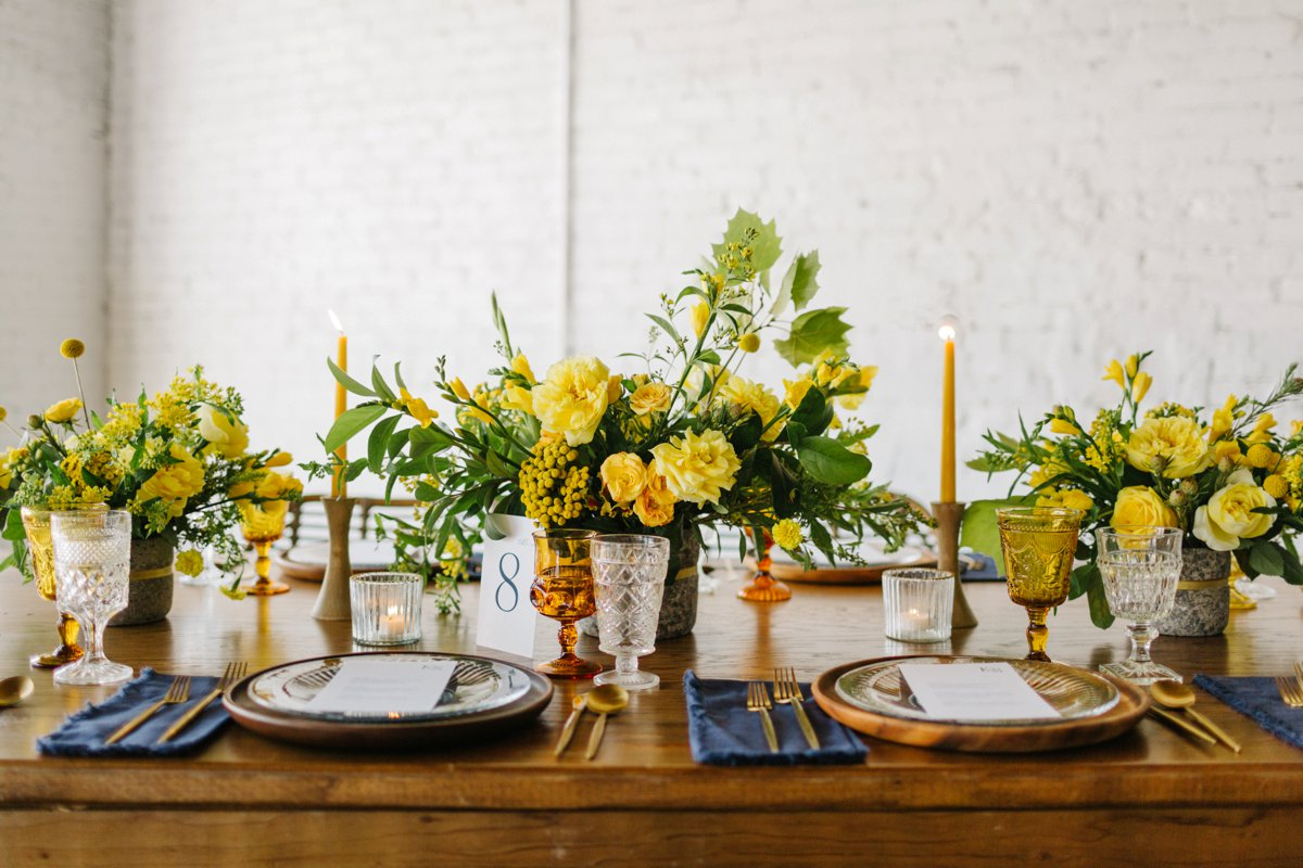 Organic Yellow Wedding Ideas At Haus820 via TheELD.com