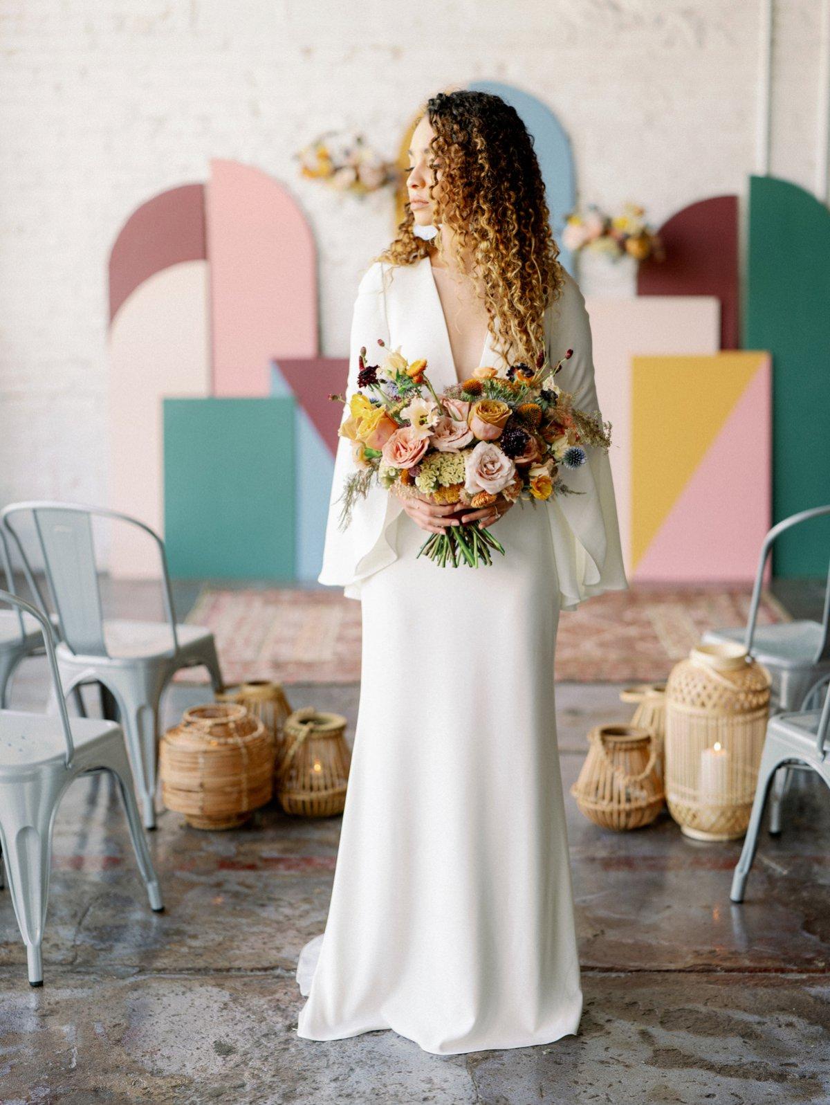 Colorful Retro Wedding Ideas via TheELD.com