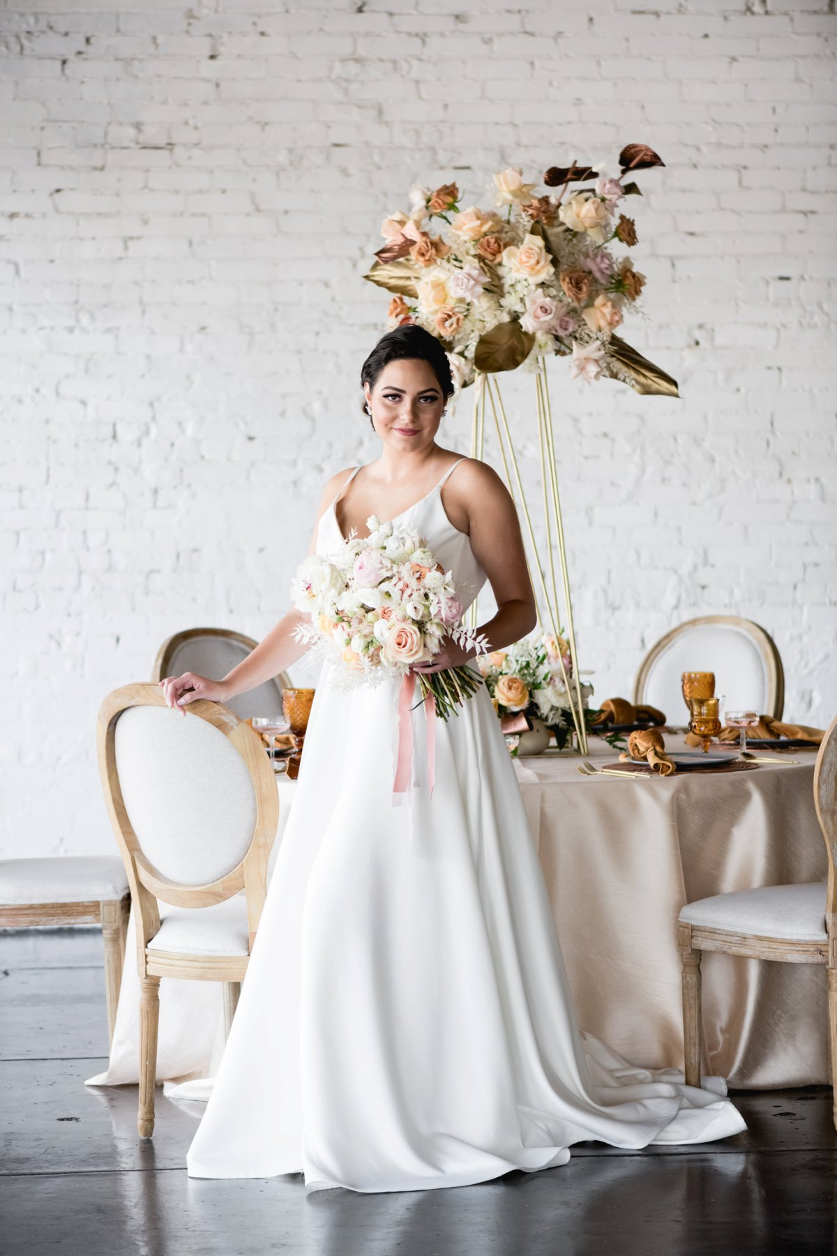 Modern Elegant Blush and Gold Wedding Ideas via TheELD.com