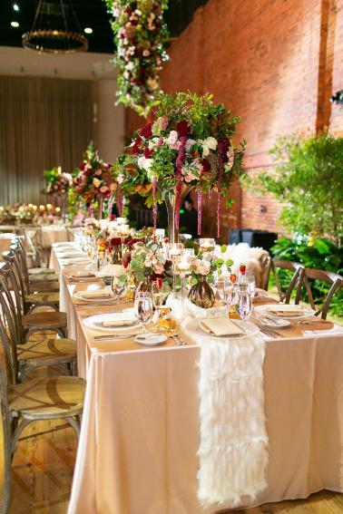 Glamorous Blush & Red Tampa Wedding via TheELD.com