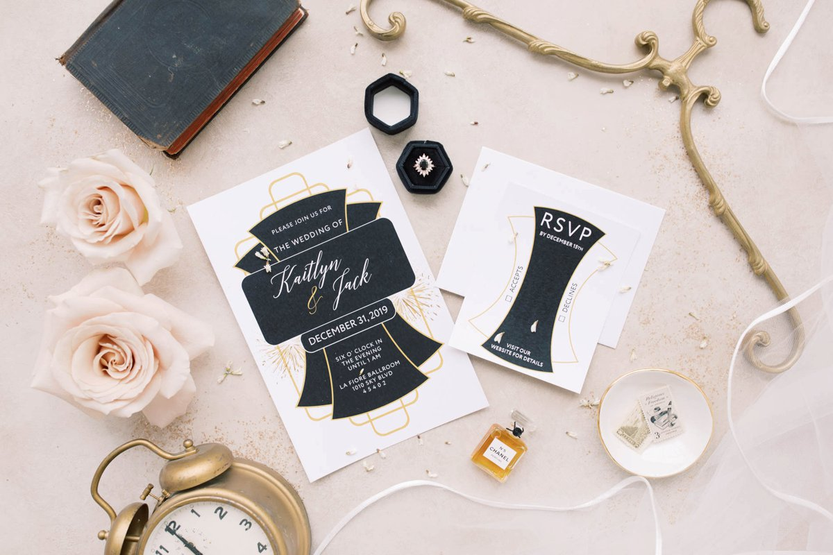 Modern Vintage New Years Eve Wedding Inspiration via TheELD.com