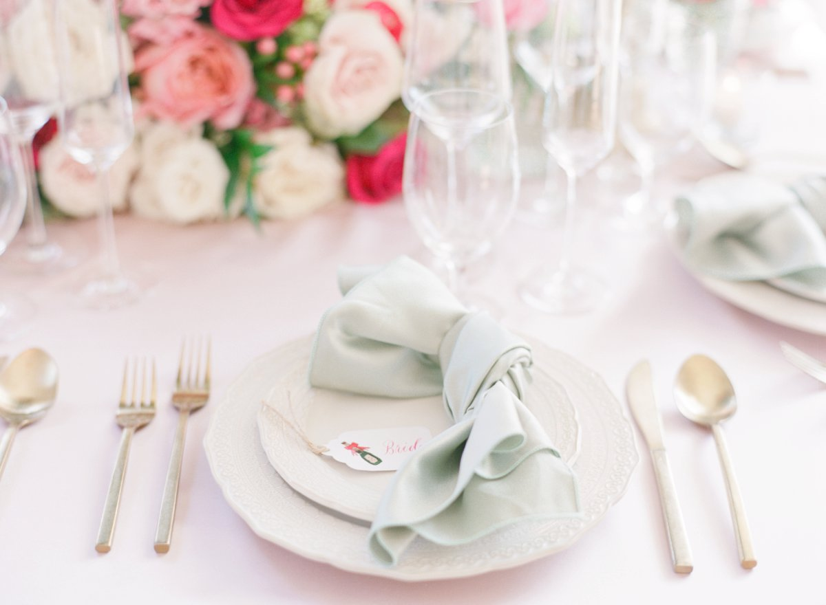 Elegant Pink and Green Wedding Ideas... with a Holiday Twist via TheELD.com