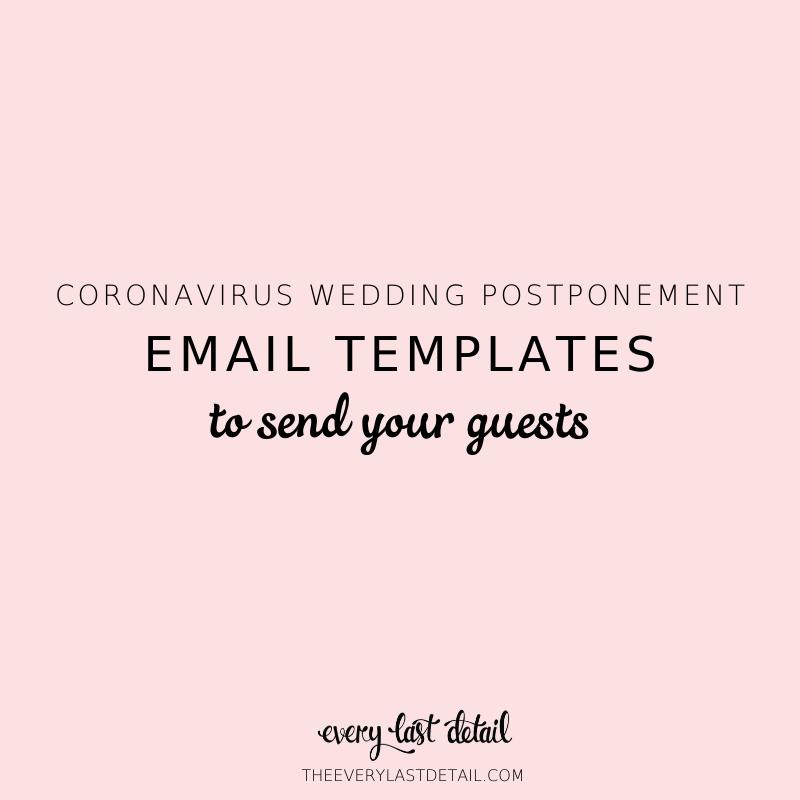 Coronavirus Wedding Postponement: Email Templates To Send To Guests via TheELD.com