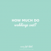 how much do weddings cost