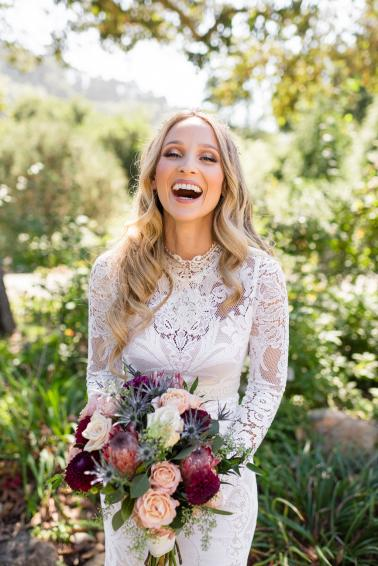 An Intimate Boho Botanical Garden Wedding via TheELD.com