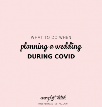 planning a wedding during covid