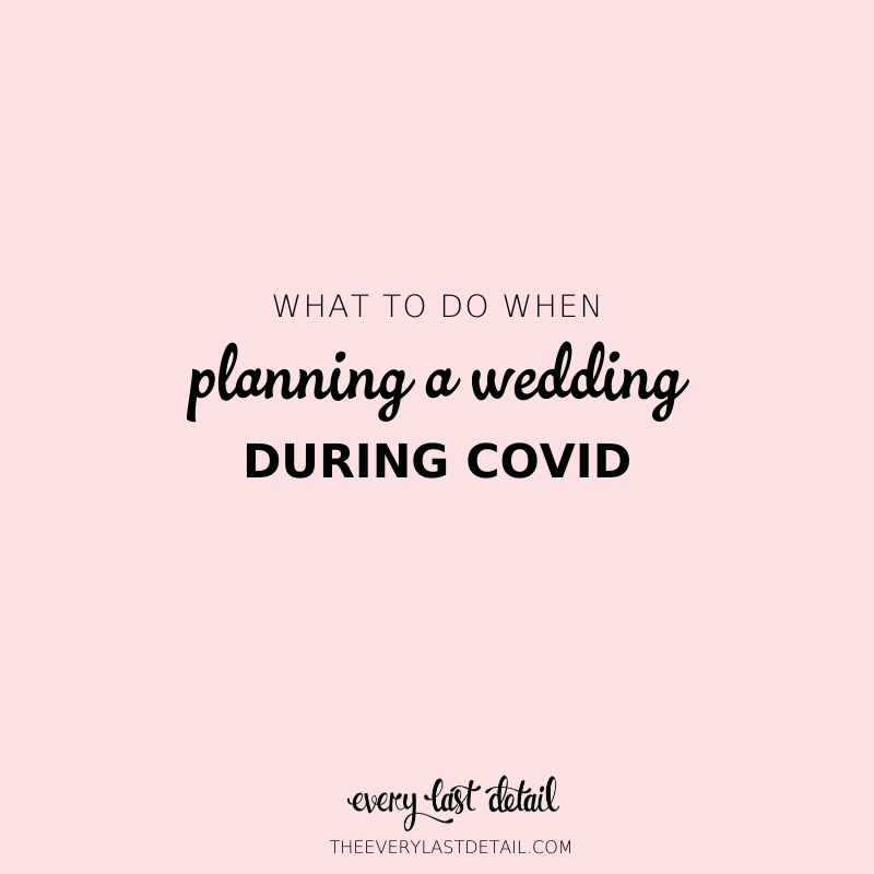 What To Do When Planning a Wedding During Covid via TheELD.com