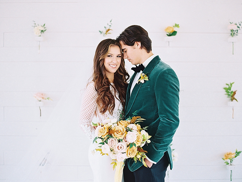 Fresh Modern Yellow and Green Wedding Ideas via TheELD.com